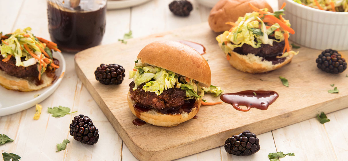 Korean Blackberry BBQ Sliders