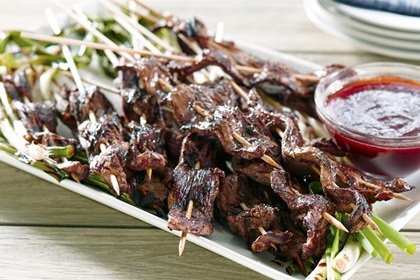 Sweet and Smokey Chipotle Americana Beef Satays