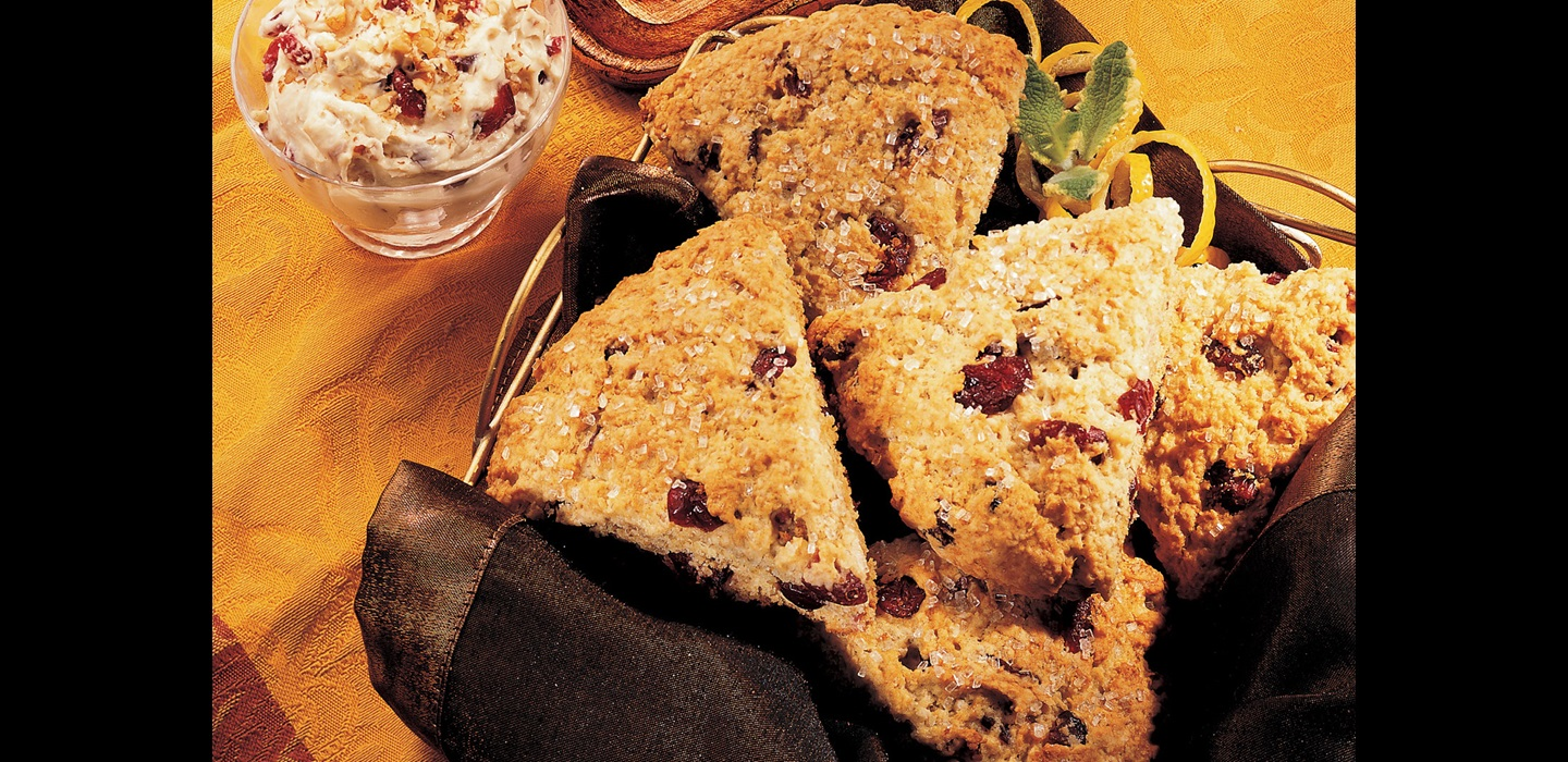 Cranberry Lemon Oat Scones