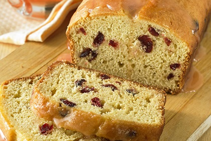 Glazed Cranberry Grapefruit Quick Bread