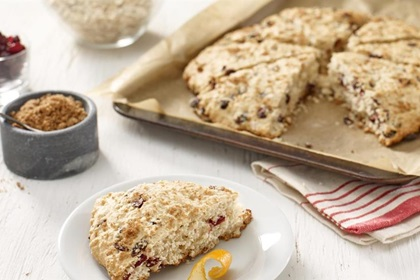 Light Cranberry Oat Scones
