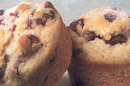 Reduced Fat Cranberry Chip Muffins
