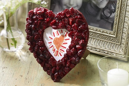 Heart-Shaped Craisins® Dried Cranberries Frame