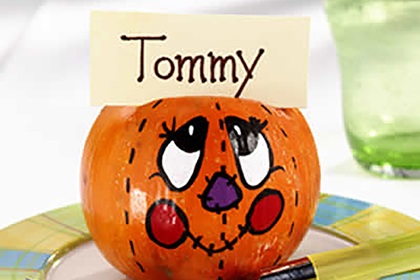 Smiling Pumpkin Place Cards