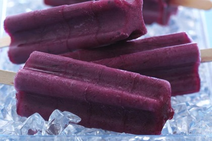 Frozen Blueberry Yogurt Pops