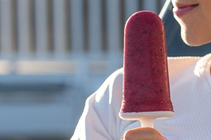Pure Cranberry Smoothie Popsicles