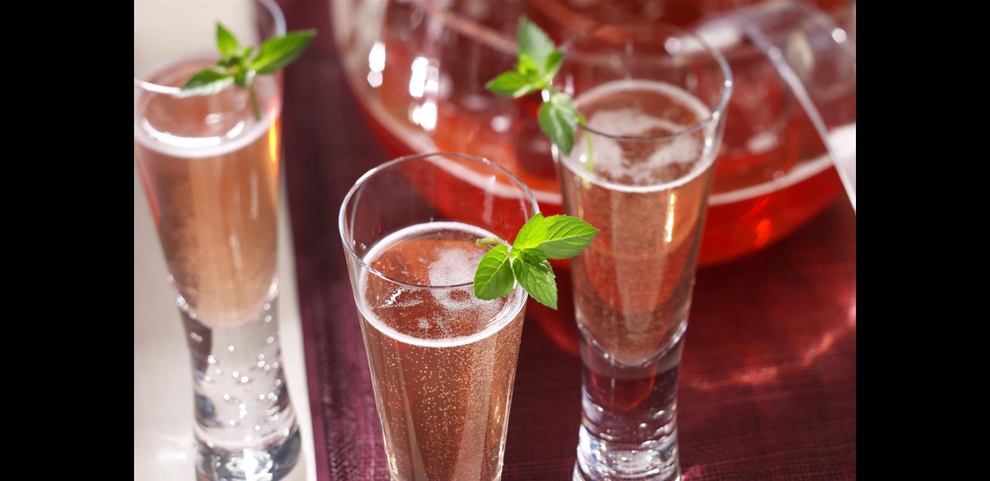 champagne and cranberry juice sparkling punch