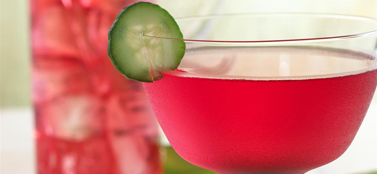 Cranberry Cucumber Vodka Spritzer