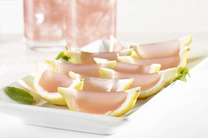Cranberry Peach Bellini Jello Shots