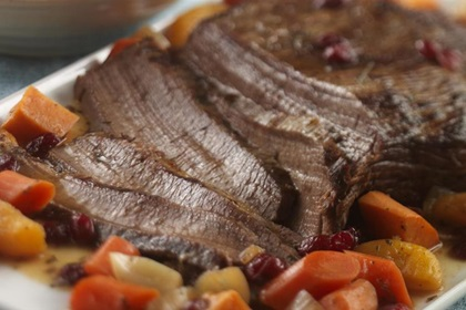 Beef Brisket with Craisins® Dried Cranberries and Sweet Potatoes
