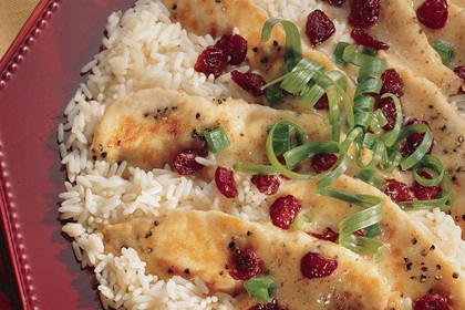 Chicken Tenderloins with Cranberry Mustard Sauce