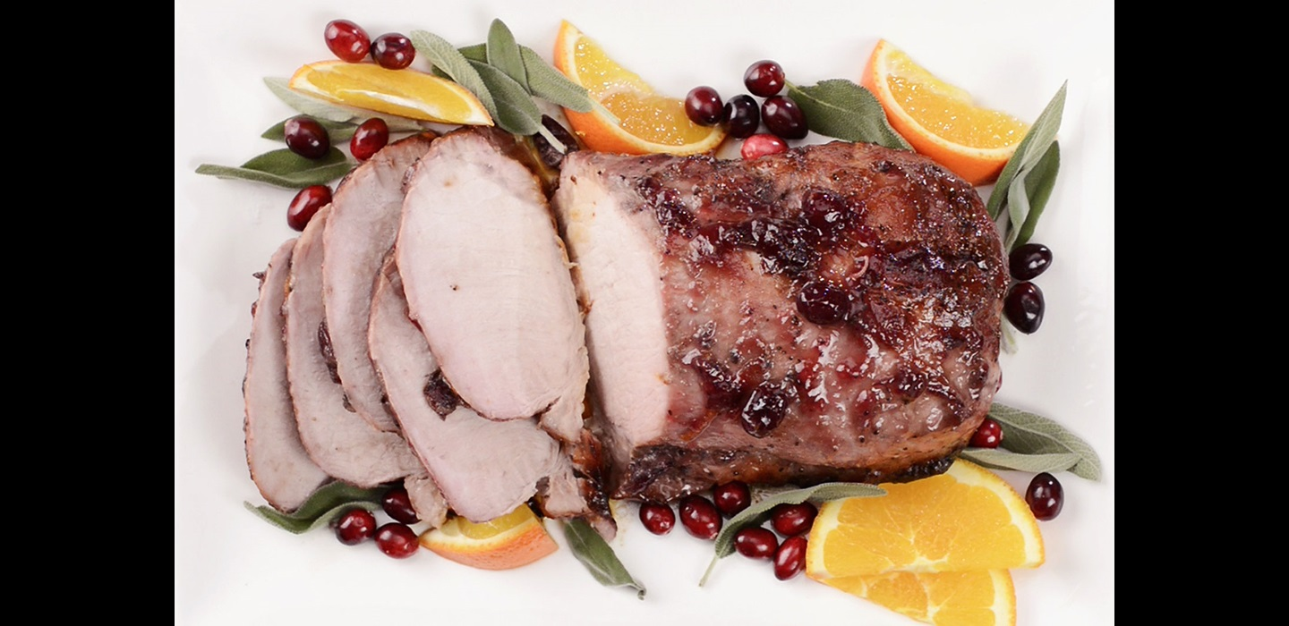 Cranberry Citrus-Glazed Pork Roast