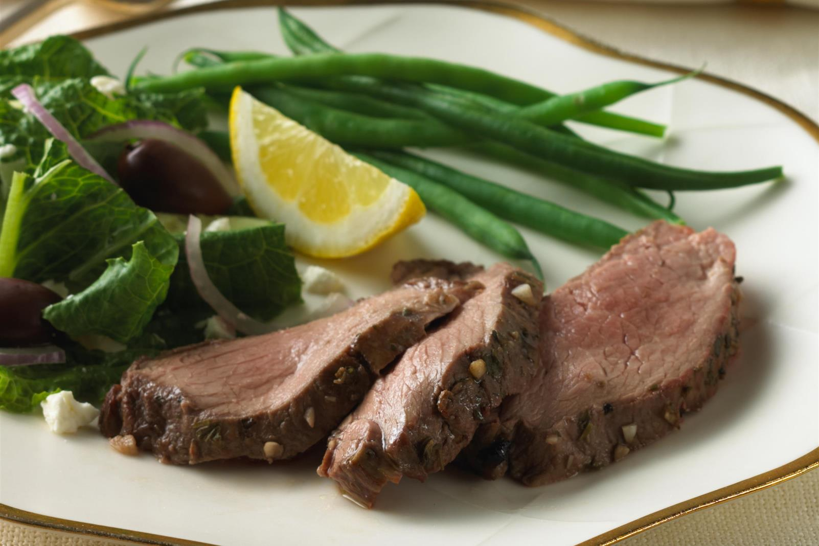 Greek Cranberry Pomegranate Marinated Roast Leg of Lamb
