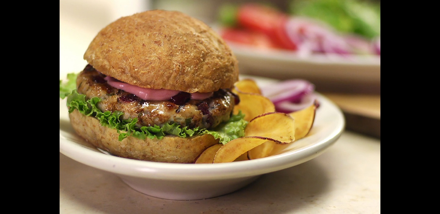 Grilled Turkey and Cranberry Burgers