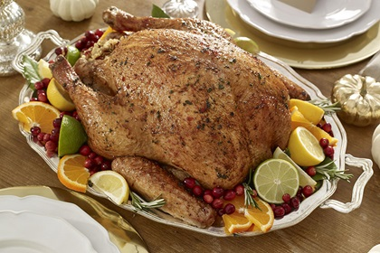 Roast Turkey with Cranberry Honey Glaze