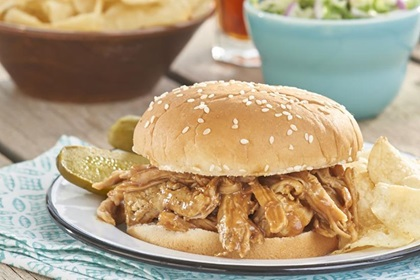 Slow Cooker Sweet and Smokey Barbecue Pulled Pork Sandwiches