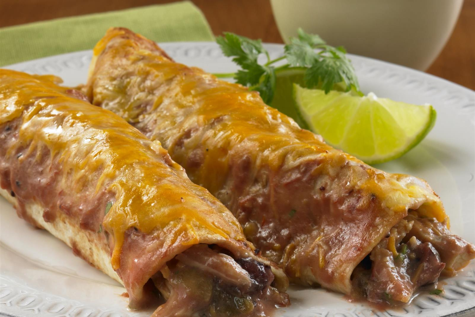 Sweet and Spicy Chicken Enchiladas