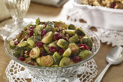 Brussels Sprouts with Toasted Pecans and Cranberries