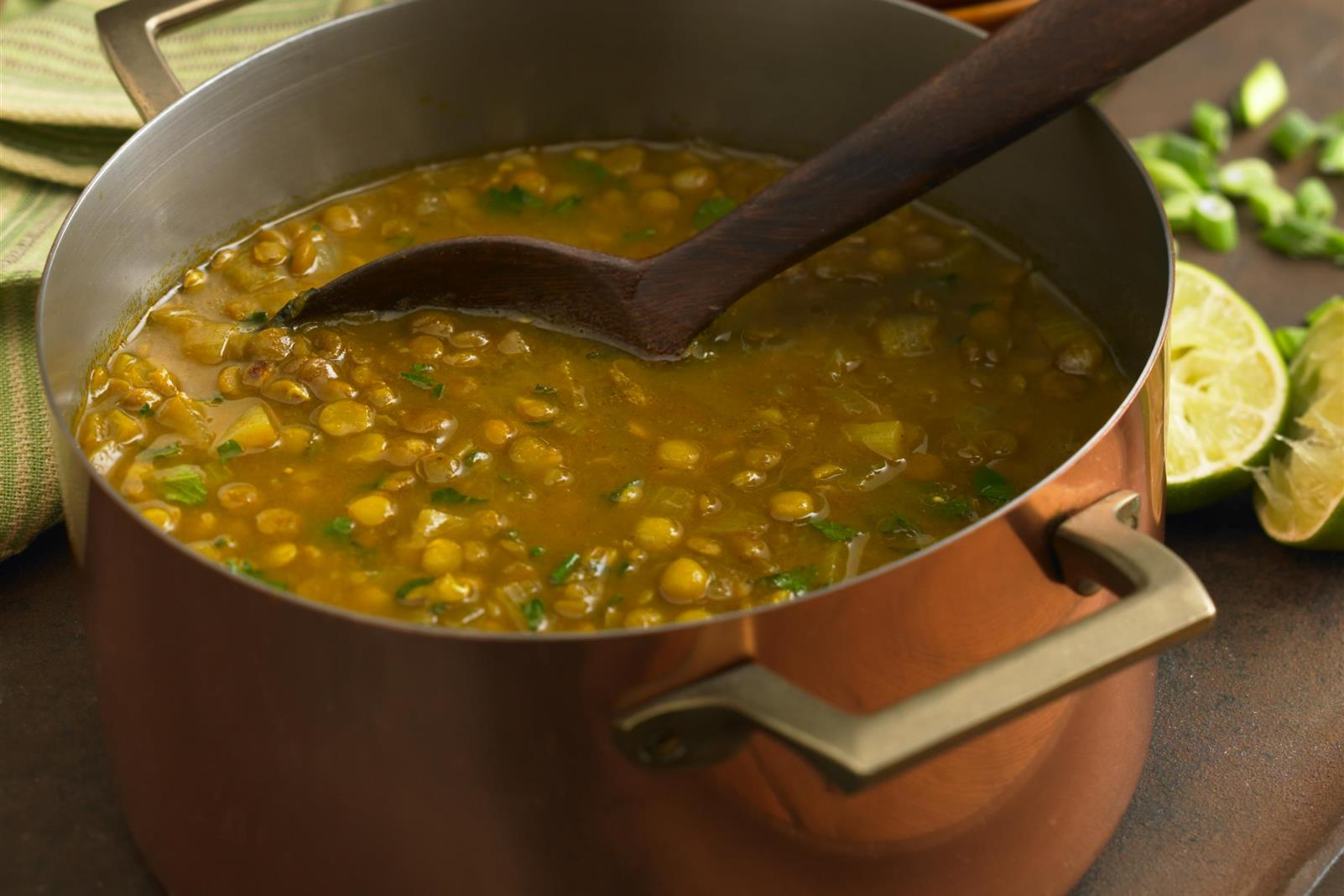 Lentil-Split Pea-Pomegranate Soup