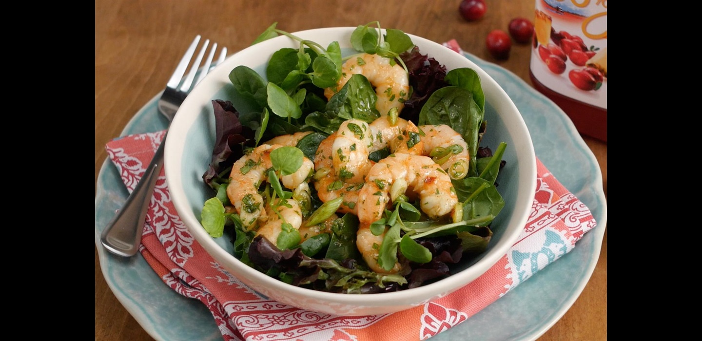 Shrimp Salad with Cranberry Pineapple Marinade