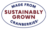 Made from sustainably grown cranberries