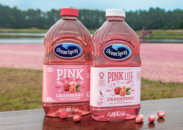 Pink Cranberry Juice Drink