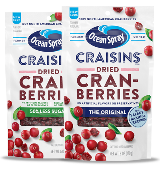 Craisins dried cranberries pack-shots