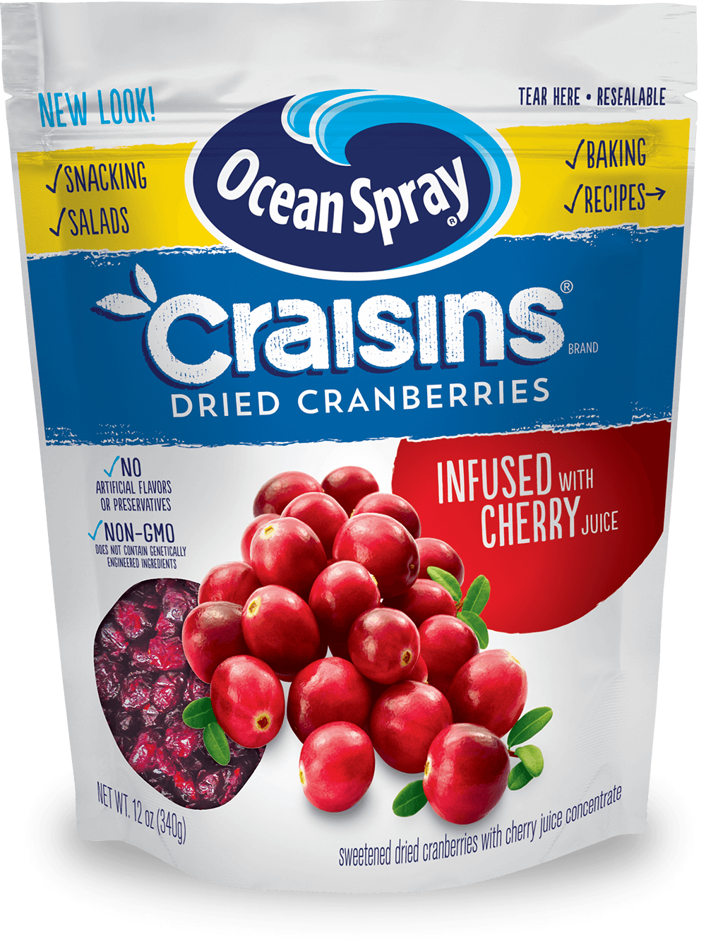 Dried Cranberries Cherry Juice Infused
