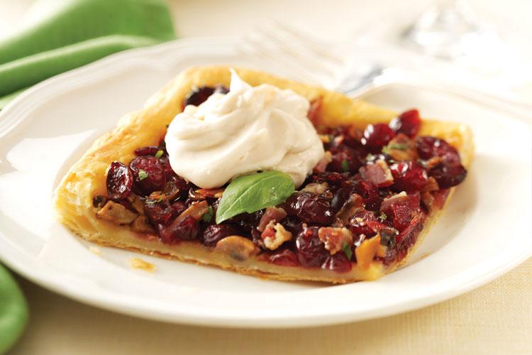 Caramelized Cranberry-Mushroom Galette