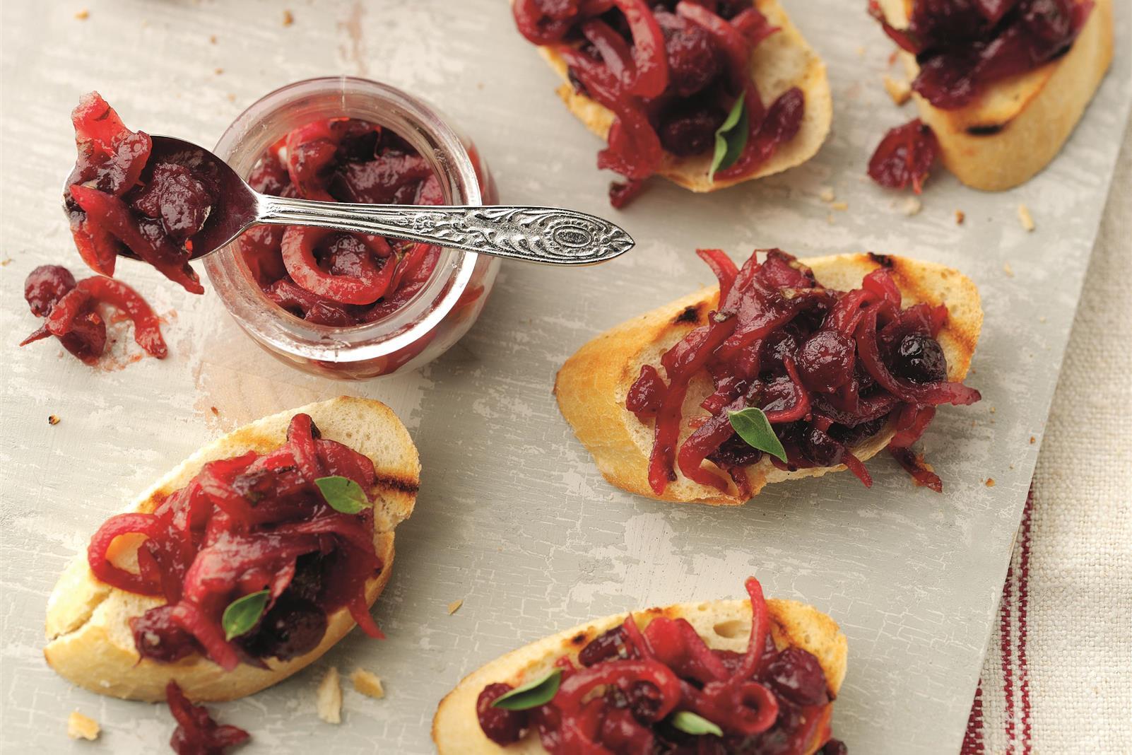 Cranberry Bruschetta