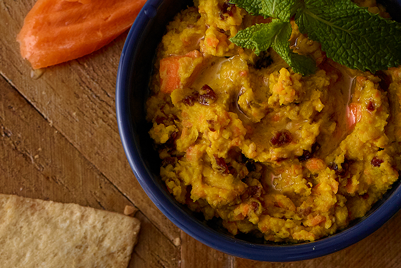 Carrot Hummus with Craisins® Dried Cranberries