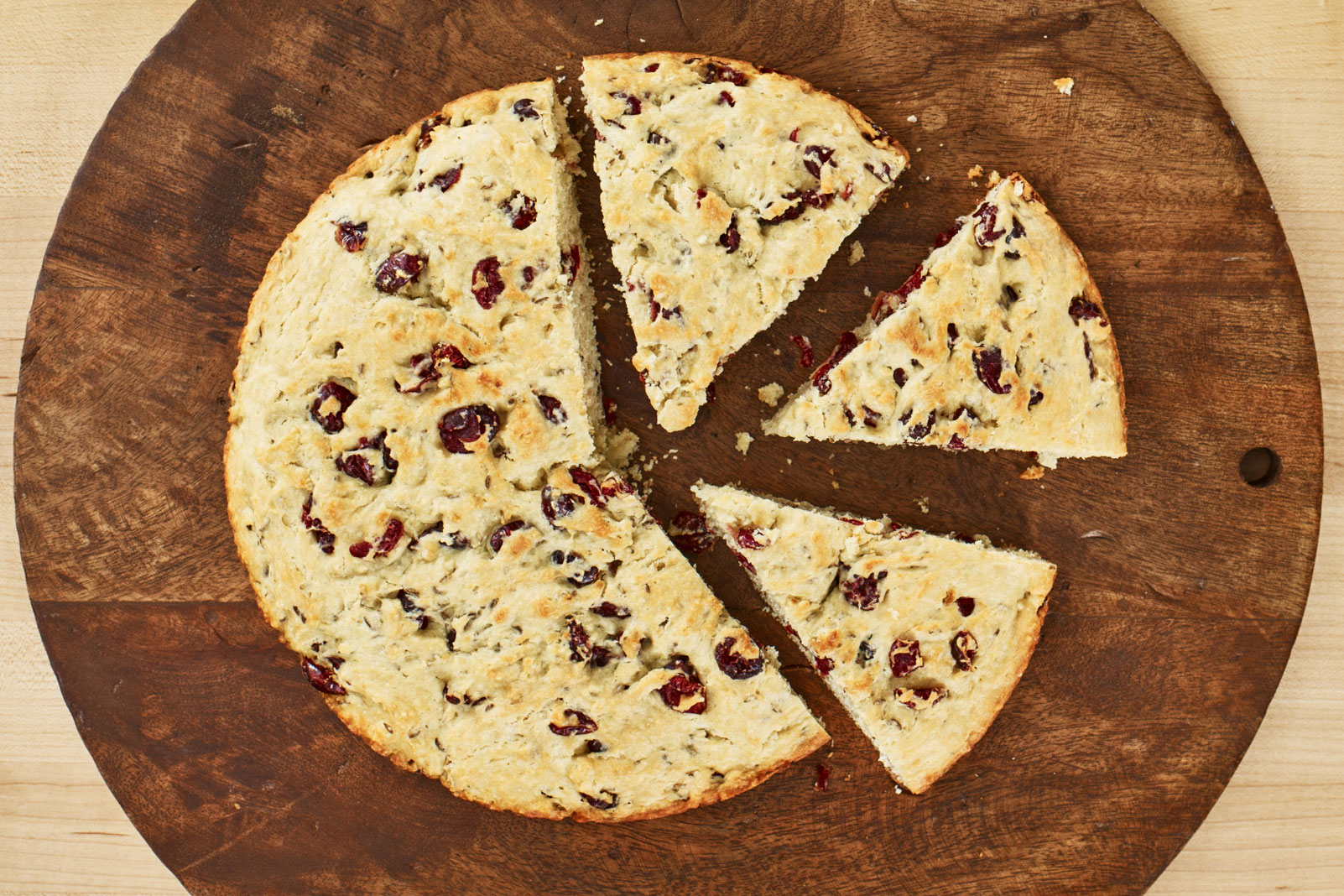 Cranberry Buttermilk Soda Bread