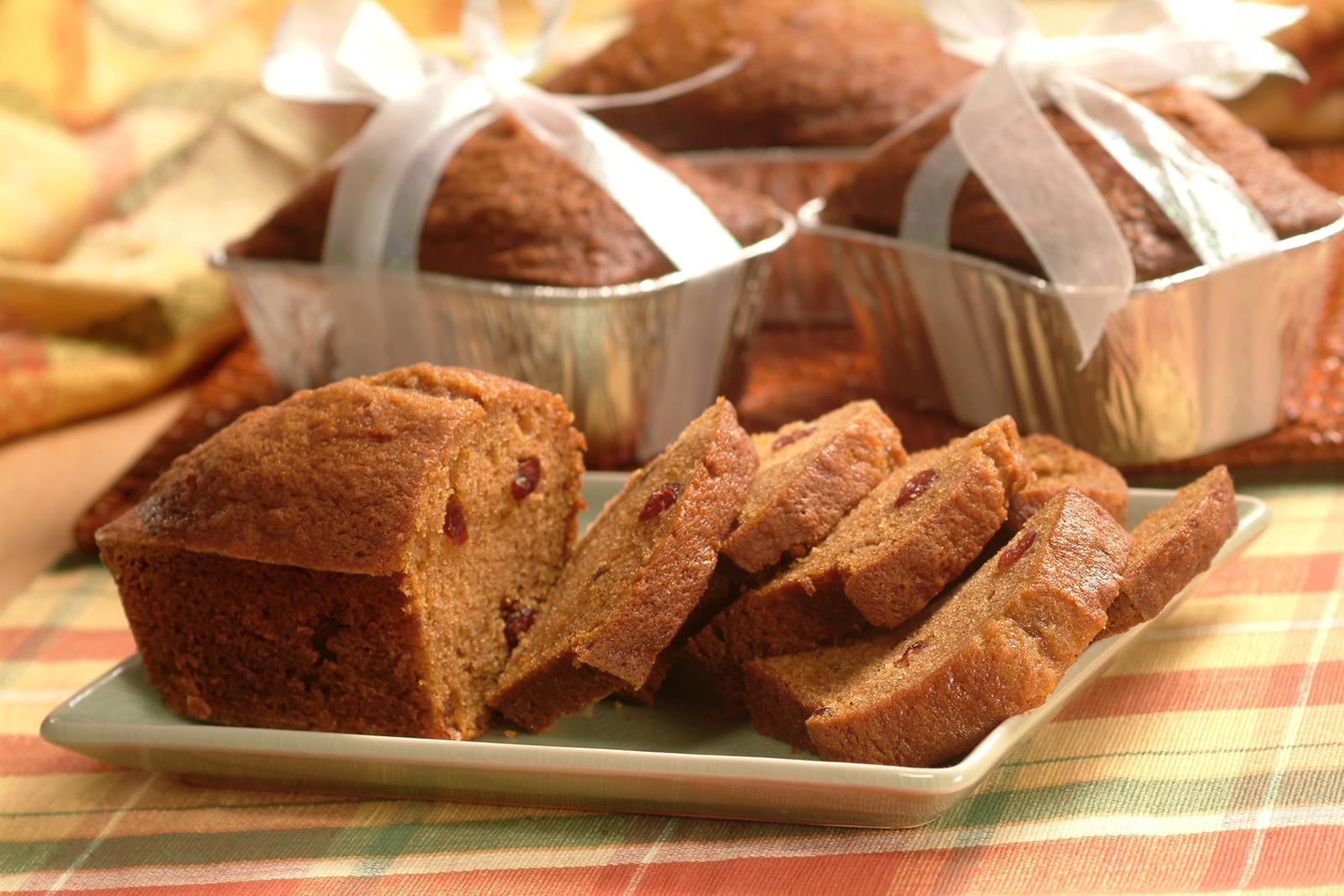 Mini Pumpkin Cranberry Breads