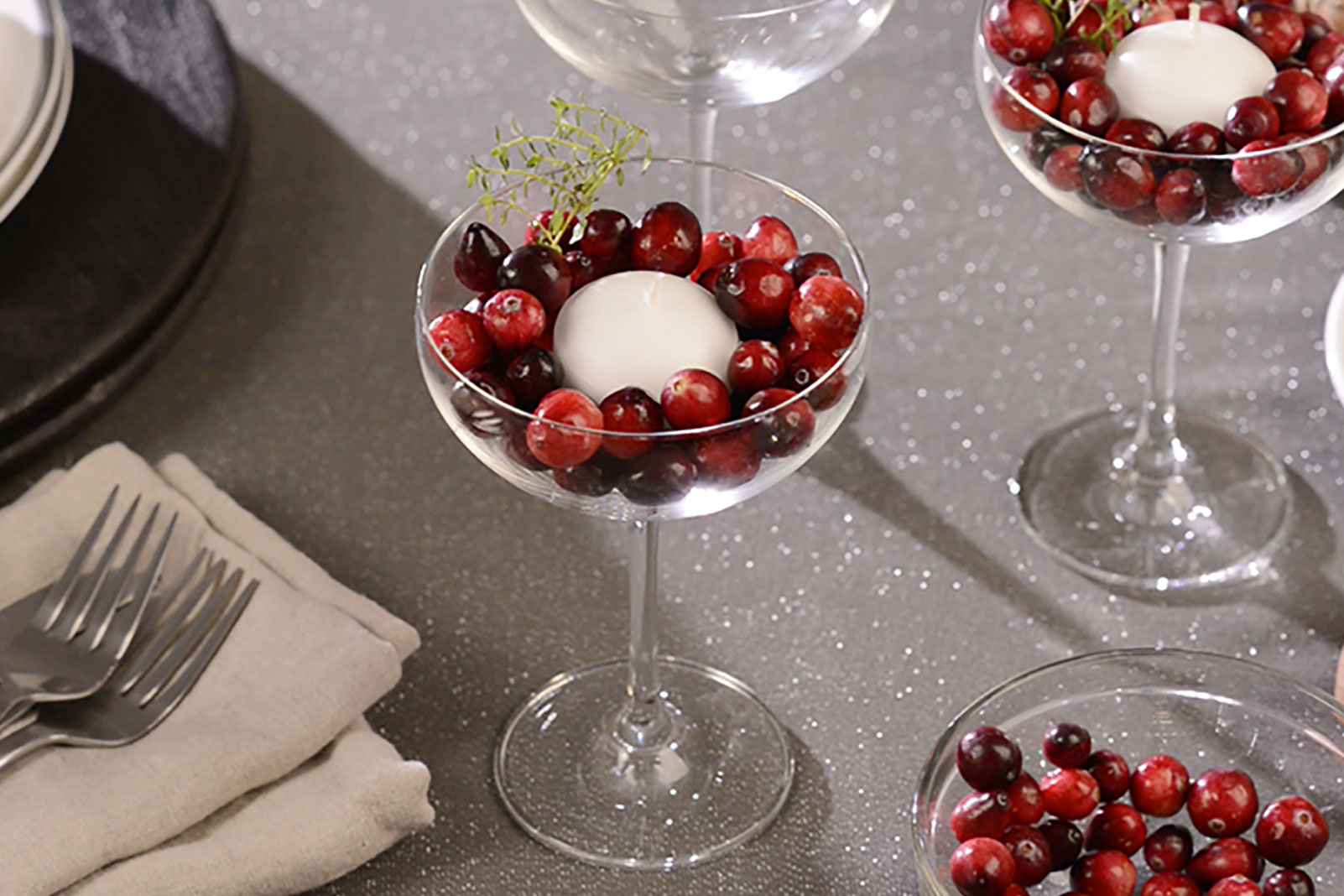 Cranberry Candle Cups