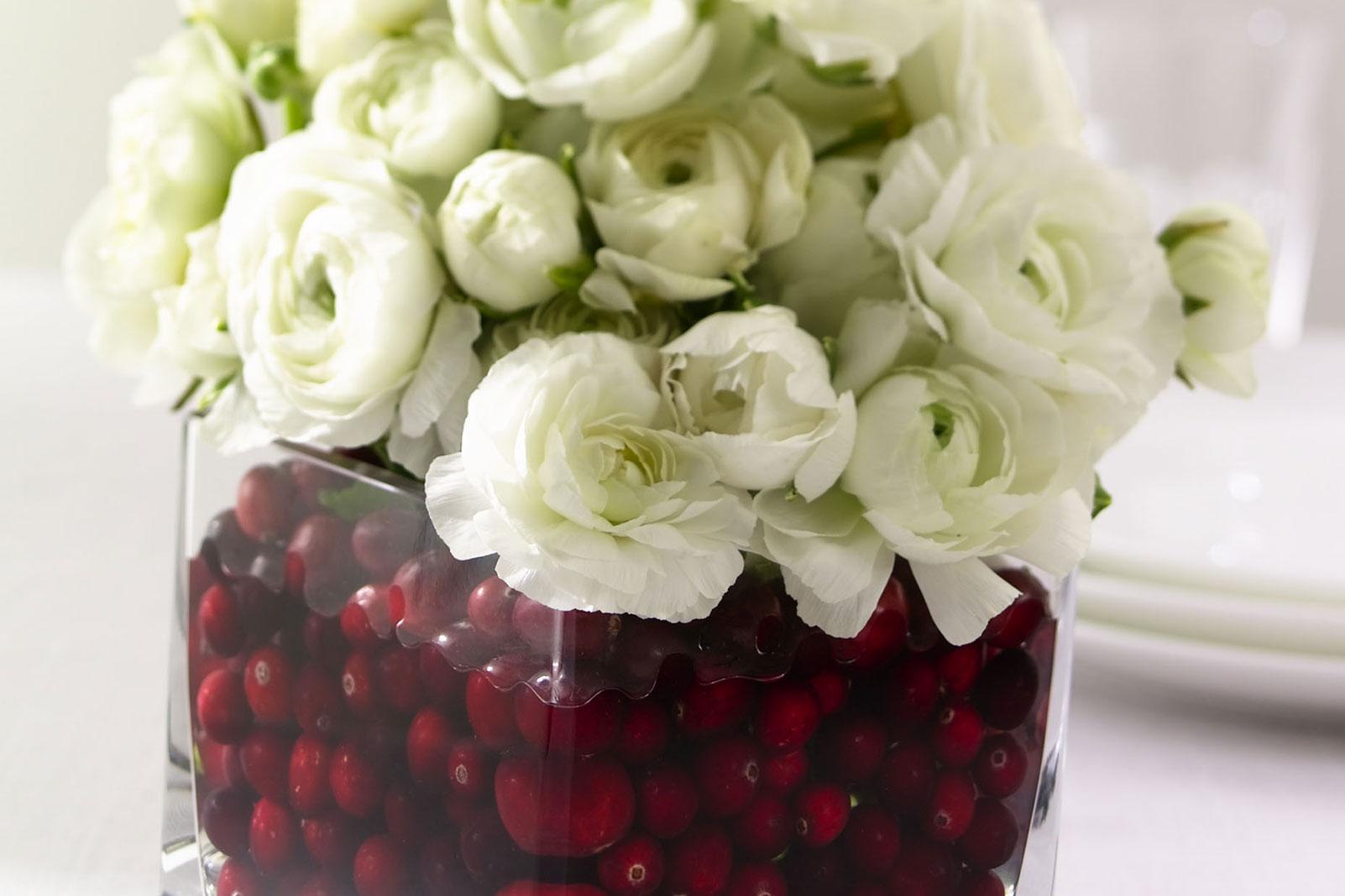 Cranberry Flower Arrangement