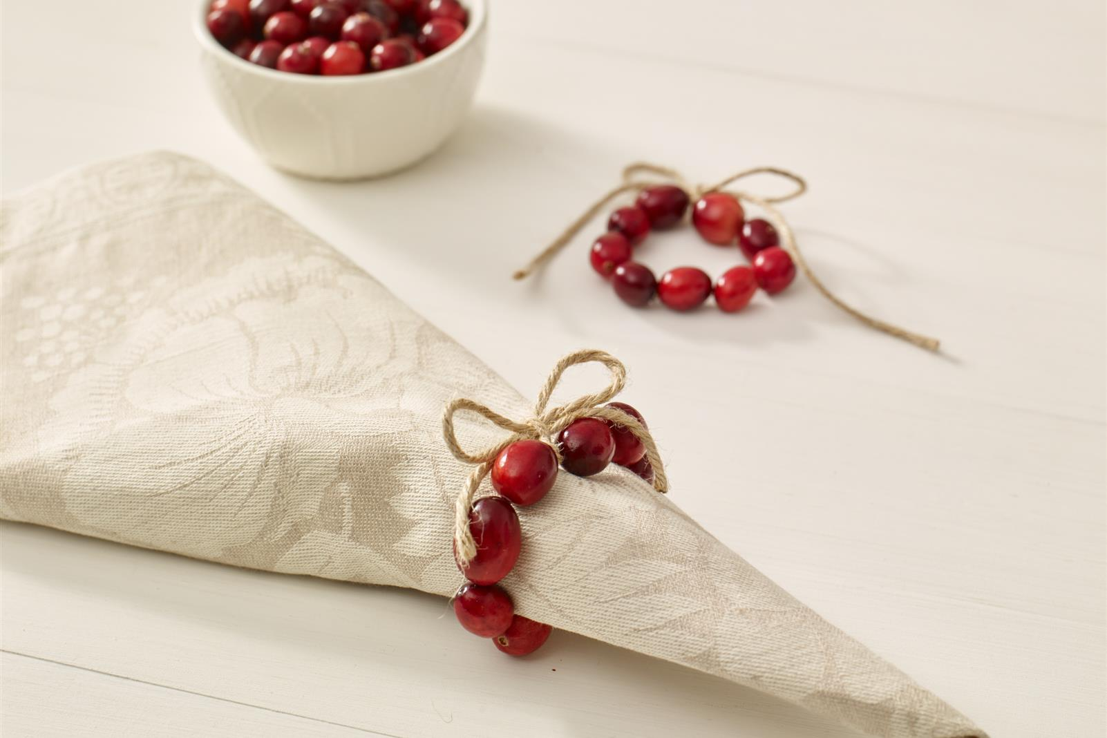 Cranberry Napkin Ring