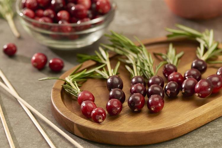 Cranberry Rosemary Drink Garnish