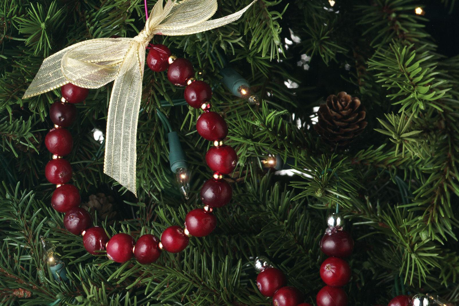 Cranberry Wreath Ornament