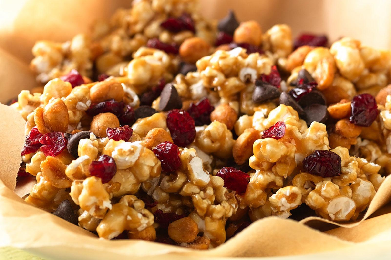 Caramel Corn & Craisins® Dried Cranberries Snack Mix