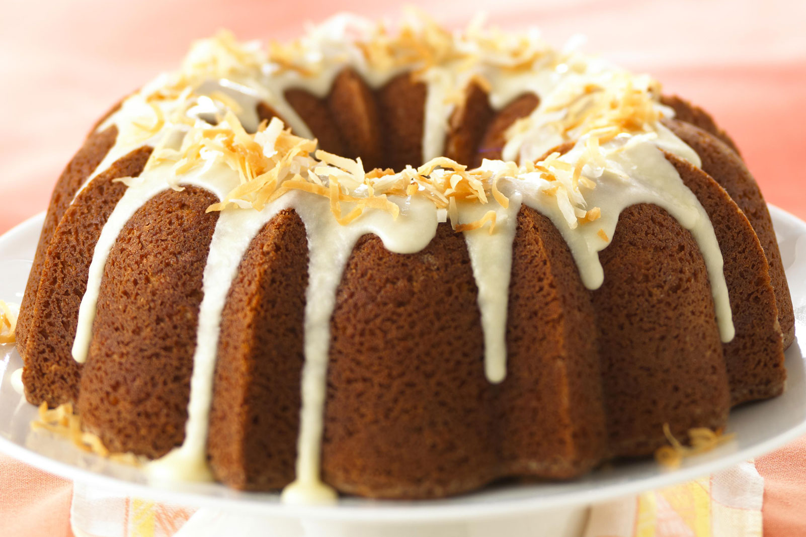Coconut-Citrus Bundt Cake with Rum Glaze