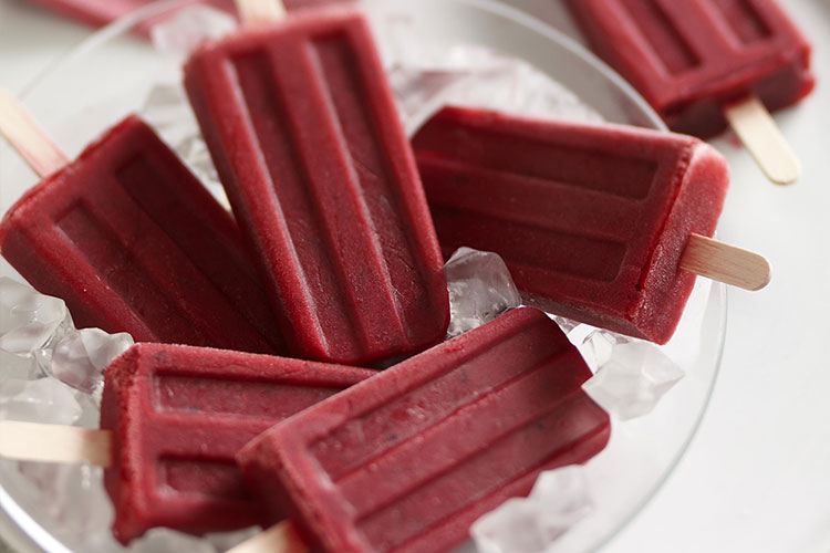 Cranberry Cherry Popsicles