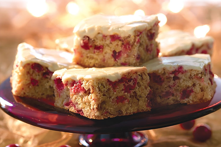 Cranberry White Chocolate Orange Bars