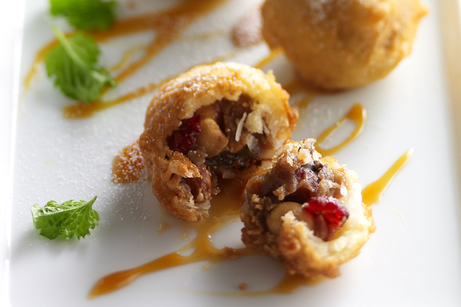 Deep-Fried Craisins® Dried Cranberries Trail Mix Truffles