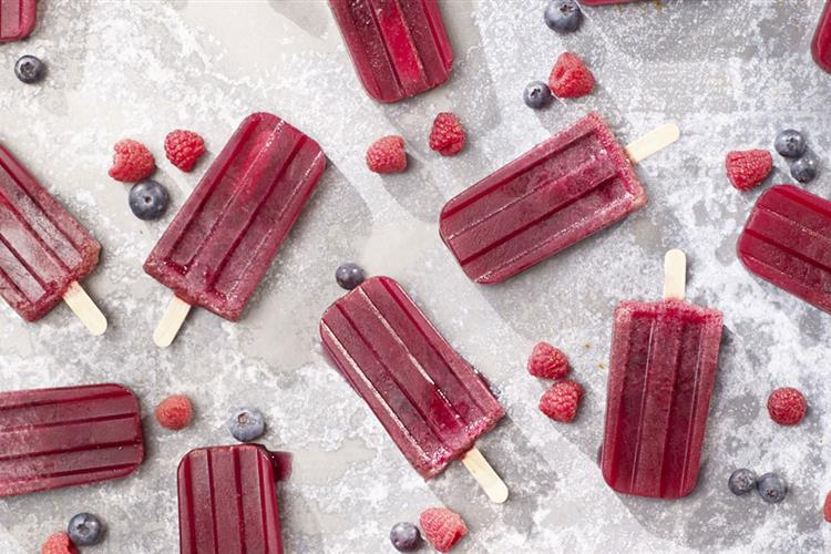 Diet Very Berry Lemonade Pops