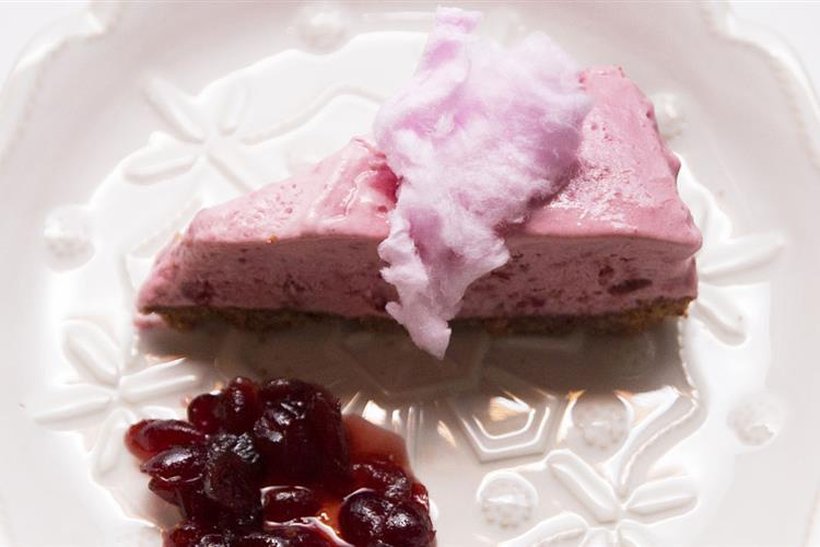 Frozen Cranberry Raspberry Cheesecake