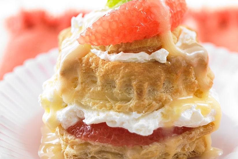 Grapefruit Cheesecake Pastry Puffs