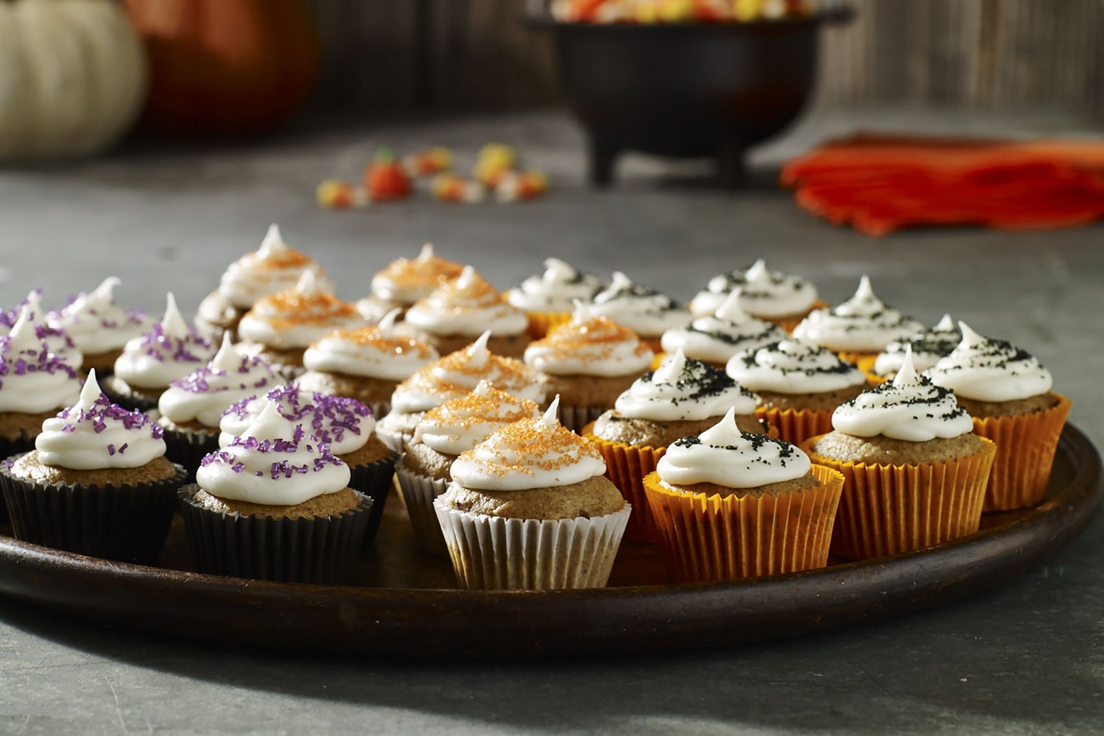 Jack-Be-Little Mini Pumpkin Cupcakes