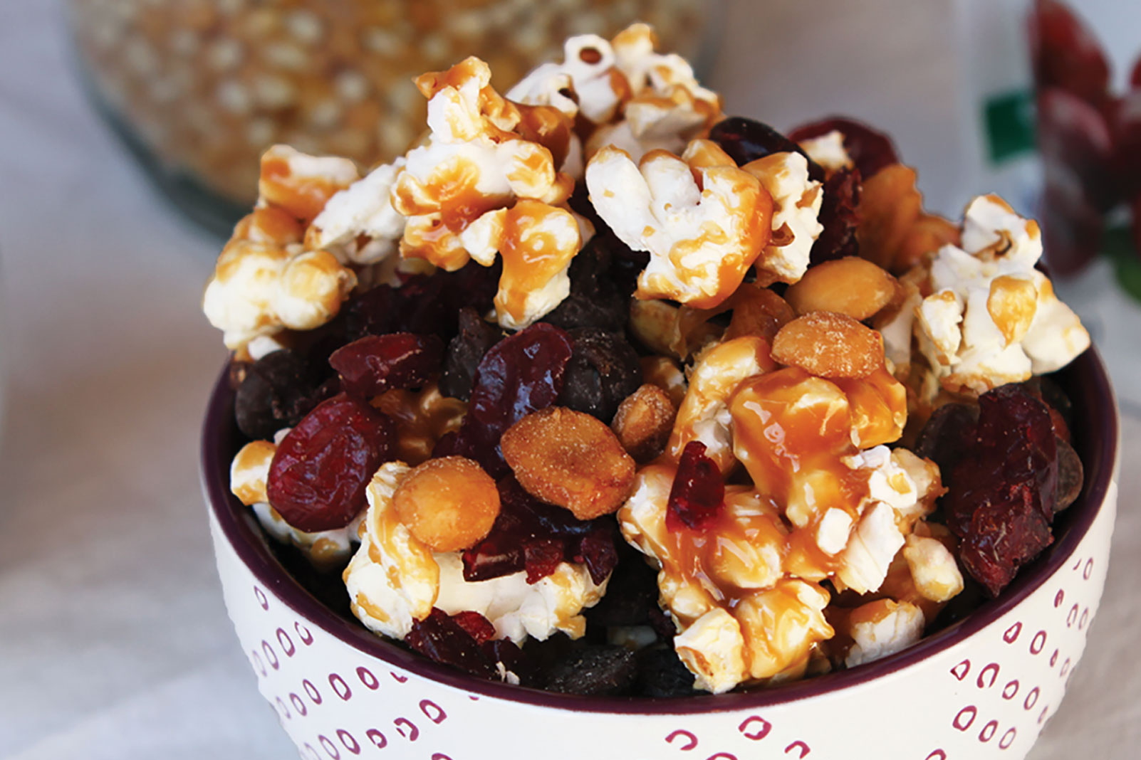 Quick Caramel Corn & Craisins® Dried Cranberries Snack Mix