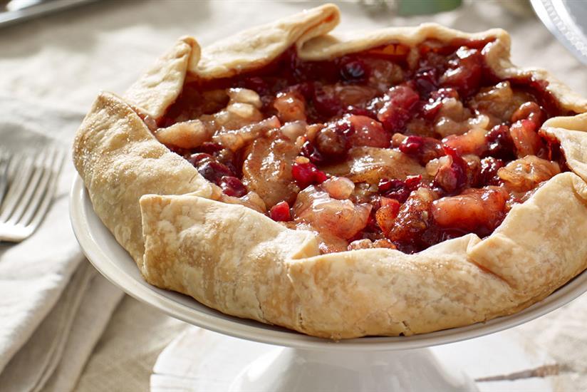 Rustic Apple Cranberry Tart
