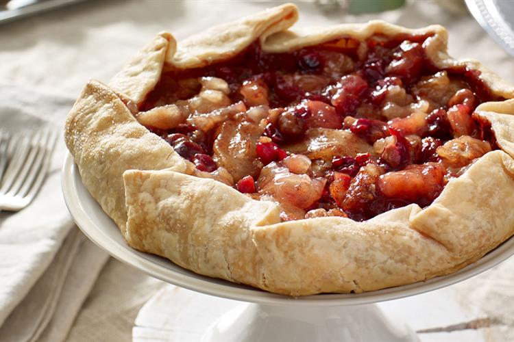 Rustic Apple Cranberry Tart